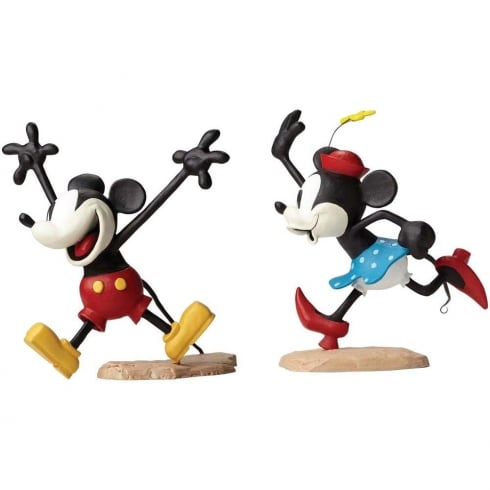 Disney Archives Collection Get A Horse Mickey and Minnie Maquettes Colour Reproduction