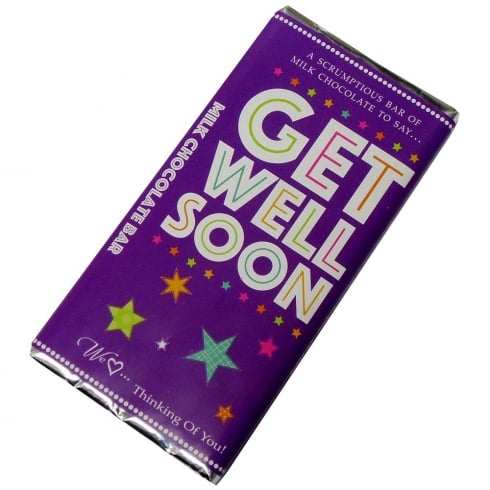 Words & Wishes Get Well Soon Milk Chocolate Bar