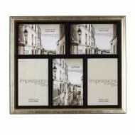 Gilt Colour Vintage Style Multi Photo Frame