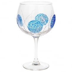 Gin & Tonic Glass Blue Burst