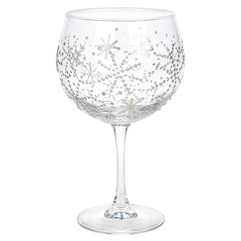Sunny By Sue Gin & Tonic Glass - Pearl Snowflake