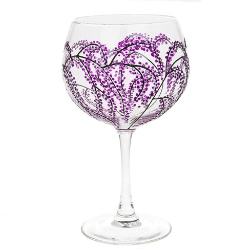 Sunny By Sue Gin & Tonic Glass - Purple Branch