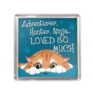 Ginger Cat Hunter Magnet