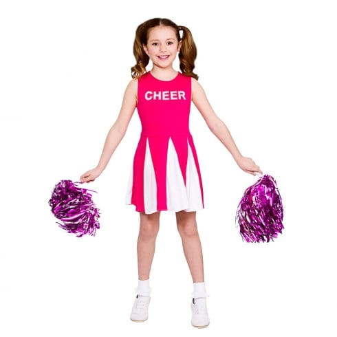 Wicked Costumes Girls Cheerleader - Hot Pink (8-10) Large