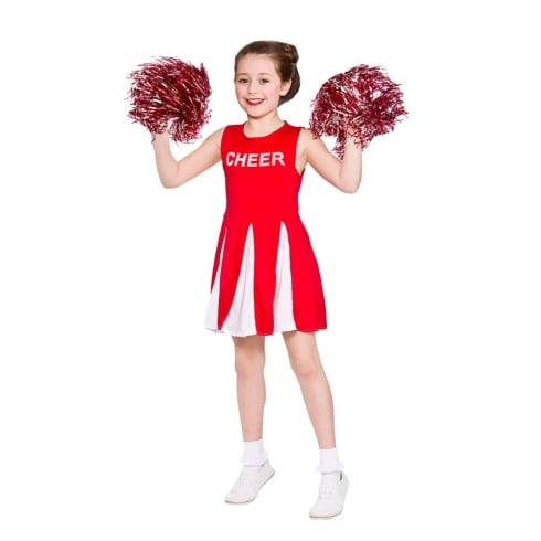 Wicked Costumes Girls Cheerleader - Red (11-13) X Large