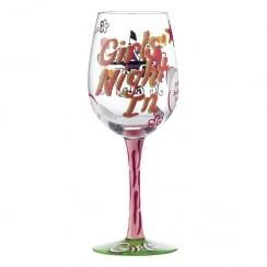 Girls Night In Wine Glass