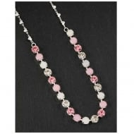 Glam Crystal Necklace Pink