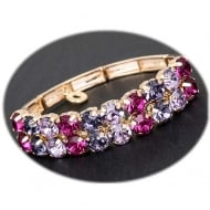Glam Stretch Bracelet Purple/Pink