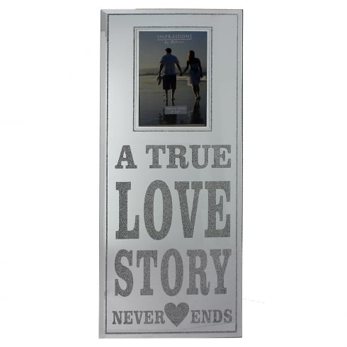 Impressions By Juliana Glass & Glitter 4 x 6 A True Love Story Photo Frame