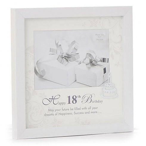 Shudehill Giftware Gloss White 18th Birthday Frame