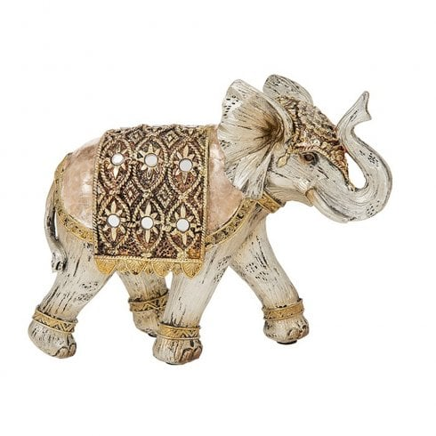 Shudehill Giftware Gold Capiz Elephant Large