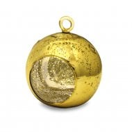 Gold Glass Bauble Tealight Holder
