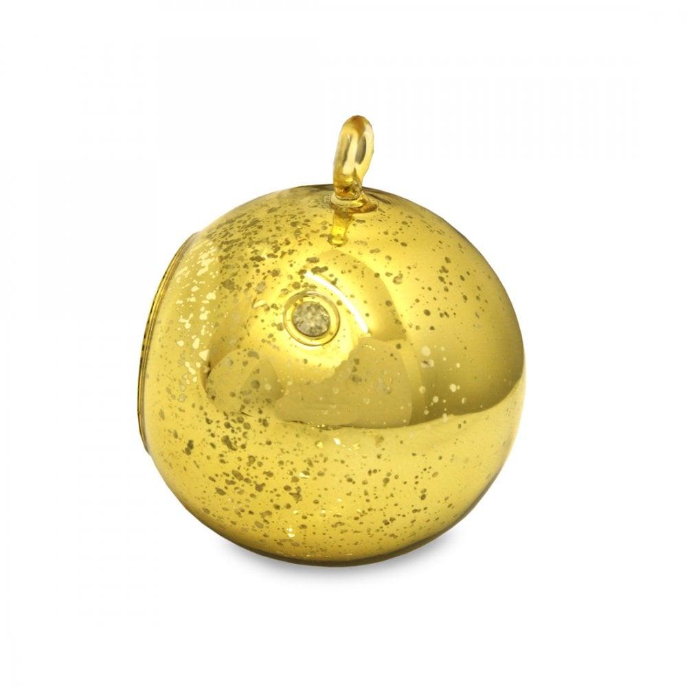 6e3fb4a97d Heart & Home Gold Glass Bauble Tealight Holder 002760370001