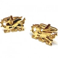 Gold Plate Dragon Cufflinks