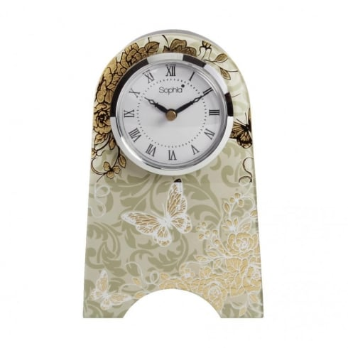 Sophia Gold Rose Collection Mantel Clock