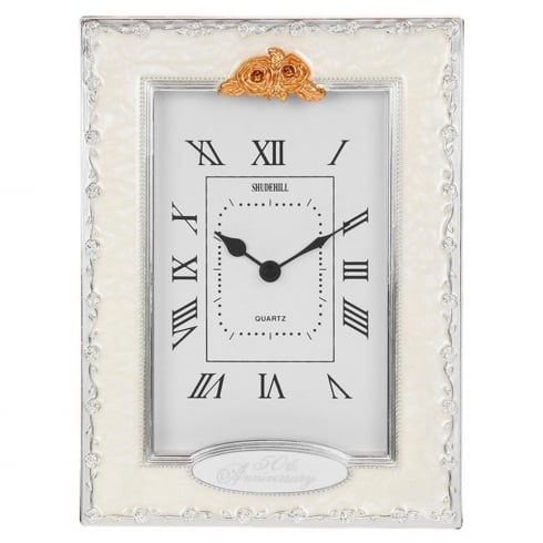 Shudehill Giftware Golden Wedding 50th Anniversary Celebration Quartz Clock