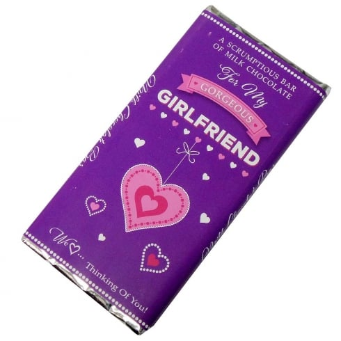 Words & Wishes Gorgeous Girlfriend Milk Chocolate Bar