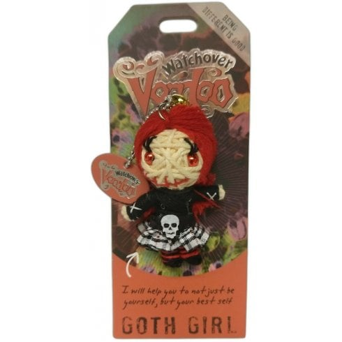 Watchover Voodoo Dolls Goth Girl Keyring Bag Tag
