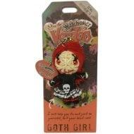 Goth Girl Keyring Bag Tag