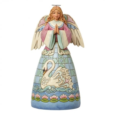 Grace Divine - Angel With Swan Figurine