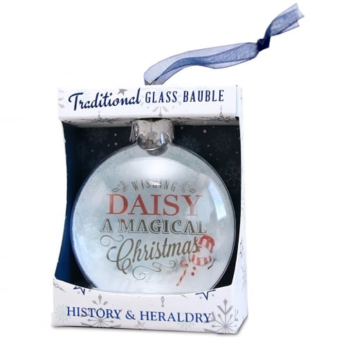 History & Heraldry Grace Glass Bauble