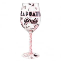 Graduation Girl Wine Glass