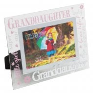 Granddaughter 3D Words 6 x 4 Glass Photo Frame