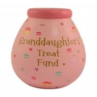 Granddaughter Treat Fund Ceramic Money Pot