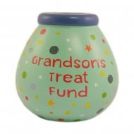 Grandsons Treat Fund Ceramic Money Pot