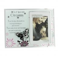 Granny Butterfly Sentiment 4 x 6 Glass Photo Frame