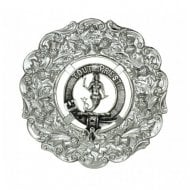 Grant Clan Crest Plaid Brooch