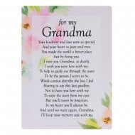 Graveside Card Memorial -Grandma