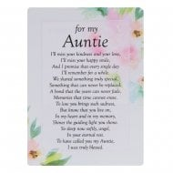 Graveside Cards Memorial-Auntie