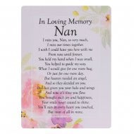 Graveside Cards Memorial-Loving Memory Nan