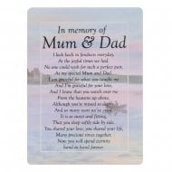 Graveside Cards Memorial-Mum & Dad