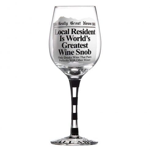 Really Great News Greatest Wine Snob Glass