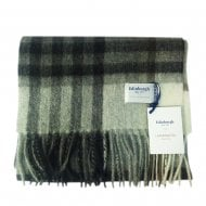 Grey Light Yellow Lambswool Tartan Scarf