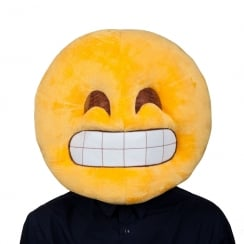 Grin Head Plush Mask
