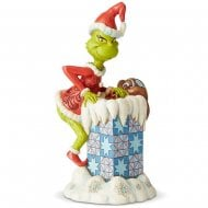 Grinch Climbing The Chimney Figurine