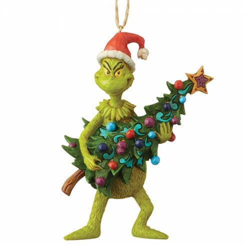 Jim Shore The Grinch Grinch Holding Tree Hanging Ornament