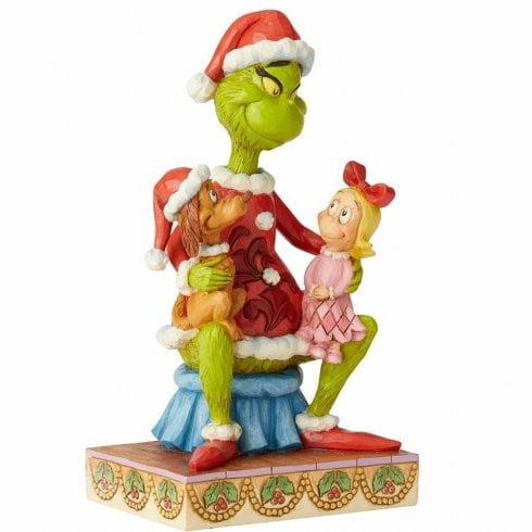 Jim Shore The Grinch Grinch With Cindy & Max On Lap Figurine
