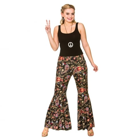 Wicked Costumes Groovy Hippie Pants Large