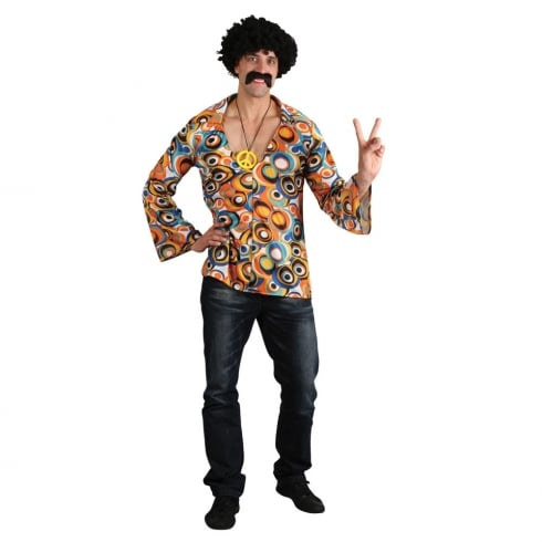 Wicked Costumes Groovy Hippie Shirt (M)