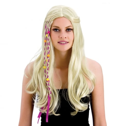 Wicked Costumes Groovy Hippie Wig (Blonde)