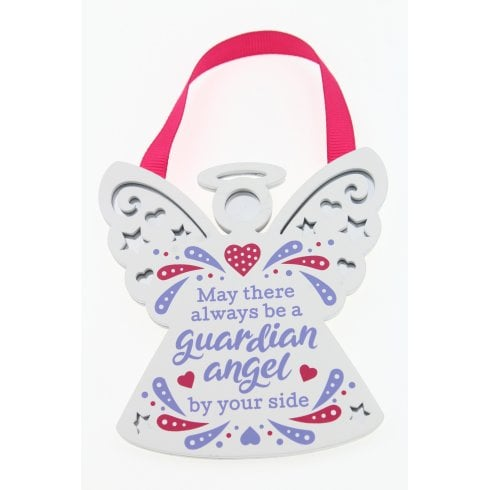 Reflective Words Guardian Angel Hanging Plaque