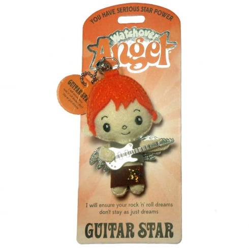 Watchover Angels Guitar Star Angel Keyring