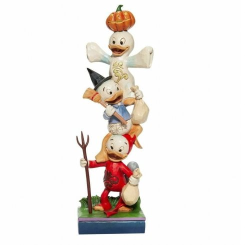 Disney Traditions Halloween Stacked Huey, Dewey and Louie Figurine