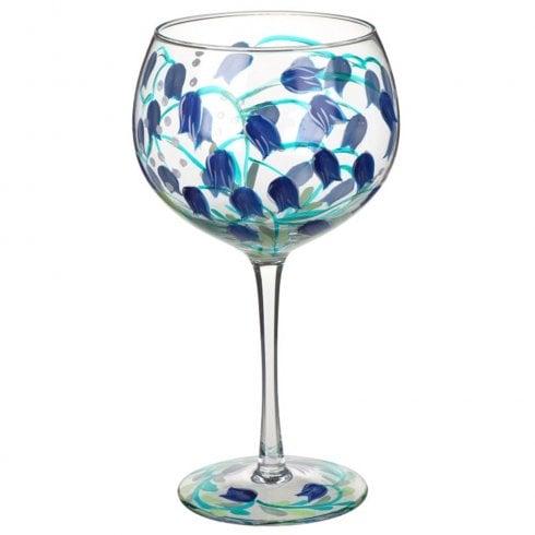 Lynsey Johnstone Hand Painted Bluebell Flower Gin Glass