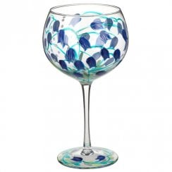 Hand Painted Bluebell Flower Gin Glass