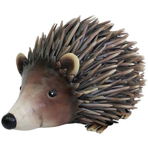 Primus Handcrafted Metal Woodland Hedgehog Standing Home Garden Ornament